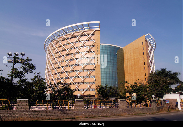 The WIPRO building in Hyderabad's 'Cyberabad', India. WIipro is a software technology company. - Stock-Bilder