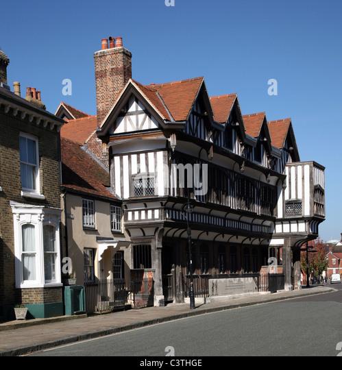 Southampton - Tudor House Museum in Bugle Street - Stock-Bilder