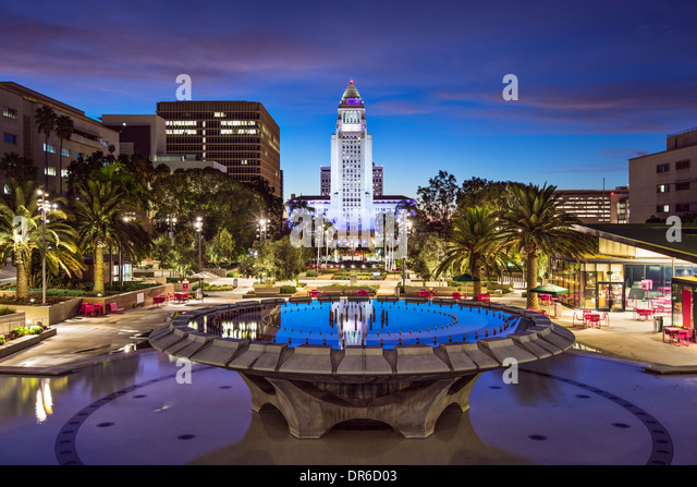 Los Angeles, California at City Hall. - Stock-Bilder