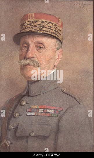Ferdinand Foch, Marshal of France, Great-Britain and Poland, pastel by Marcel Baschet, 1925. - Stock Image