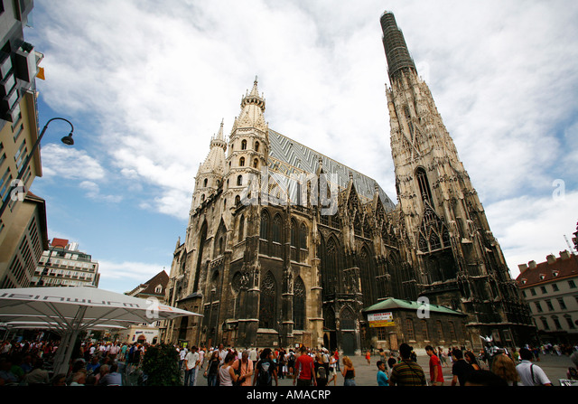 Aug 2008 - Saint Stephan Cathedral Vienna Austria - Stock Image