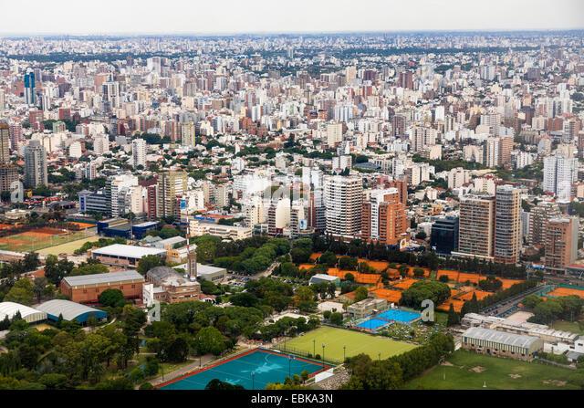 view to town, Brazil, Nunez, Buenos Aires - Stock Image