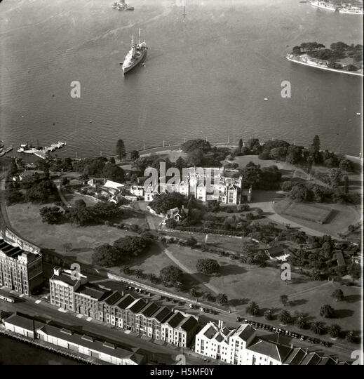 Government House & Grounds - 16 June 1937 - Stock Image