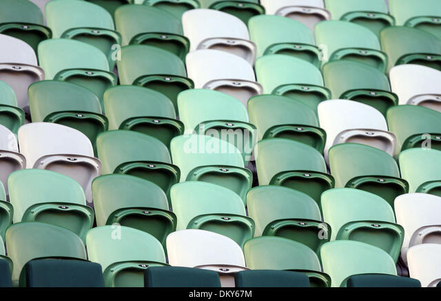 Jan 20, 2010 - Melbourne, Victoria, Australia - Empty stadium seats during the Justine Henin (BEL) vs  Elena Dementieva - Stock Image