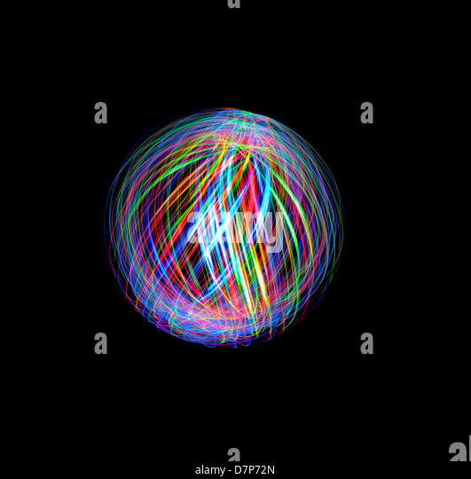 Light Painting Orbs and Spheres - Stock-Bilder