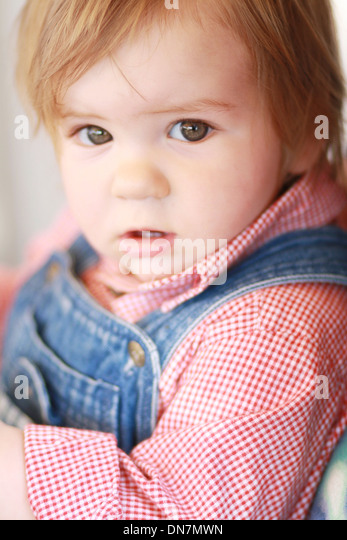 Portrait of a little boy - Stock Image
