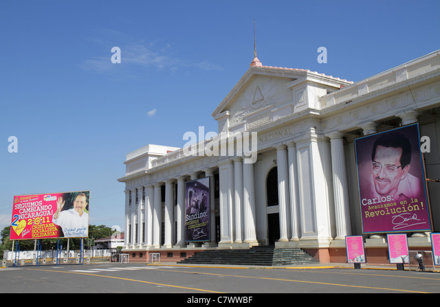 Managua Nicaragua Area Monumental National Palace of Culture 1935 plaza Pablo Dambach architect museum national - Stock Image