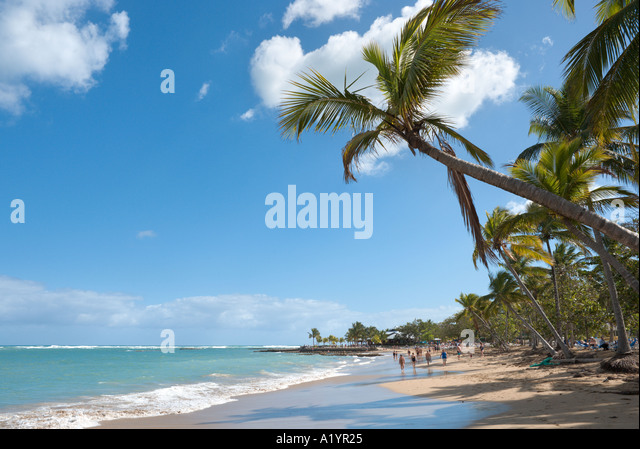 Beach at Playa Dorada, Puerto Plata, North Coast, Dominican Republic, Caribbean - Stock Image