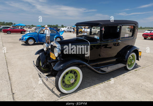 BROOKLYN, NEW YORK - JUNE 11 2017: A 1931 Ford on display at the Antique Automobile Association of Brooklyn Annual - Stock Image