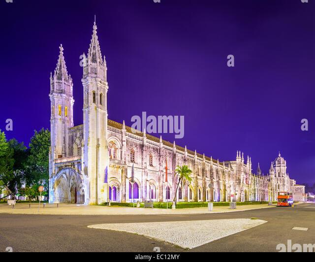 Belem, Lisbon, Portugal at Jeronimos Monastery. - Stock-Bilder