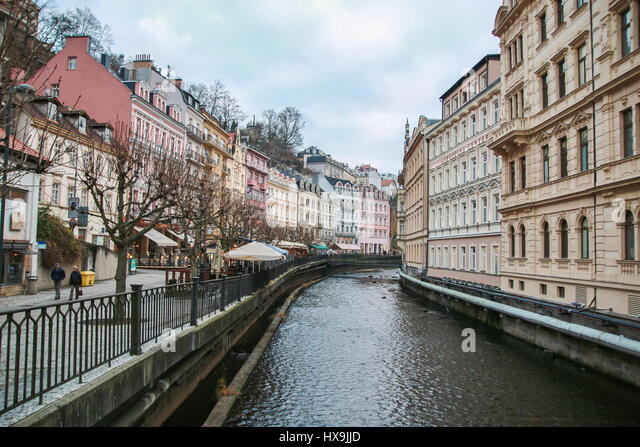 City center in Karlovy Vary. Czech Republic - Stock-Bilder
