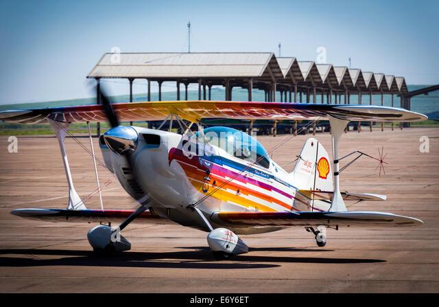 Christen Eagle II from Cmt Edison Andrade in brazilian acrobatic championship. - Stock-Bilder