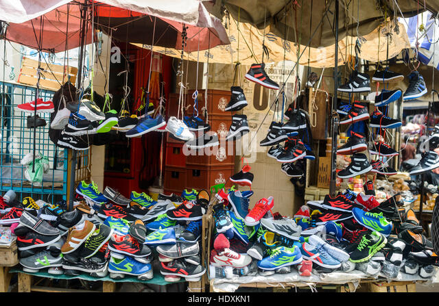 Street shops and markets, Dakar, Senegal - Stock Image