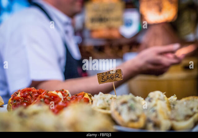Close-Up Of Fresh Food With Label - Stock Image