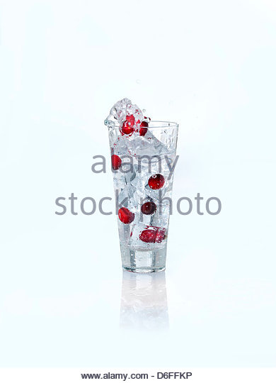 Cranberry wave drink - Stock Image