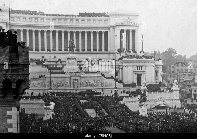 Ceremony of the Unknown Soldier, Rome 1921 - Stock Image