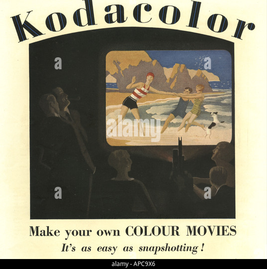 Kodacolor advertisement for Colour Movies 1929 - Stock Image