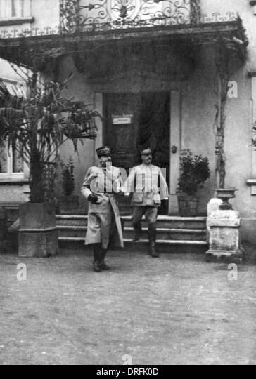 General Franchet d'Esperey and General Chretien - Stock Image