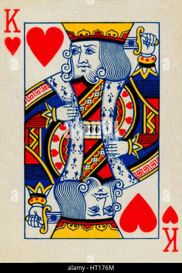 King of Hearts, 1925. Artist: Unknown. - Stock Image