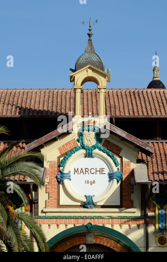 Belle Epoch era Covered Market (1898) designed by Adrien Rey Menton Alpes-Maritimes France - Stock-Bilder