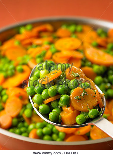 Peas and Carrots - Stock Image