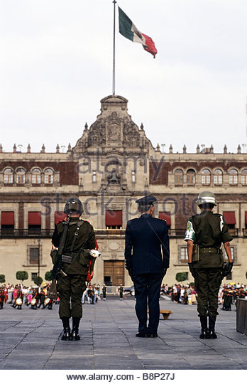 national palace, mexico city, mexico - Stock Image