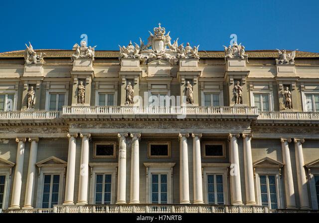 Palazzo Ducale, Piazza Matteotti, historic center. Old Twon. Genoa. Mediterranean Sea. Liguria, Italy Europe - Stock Image