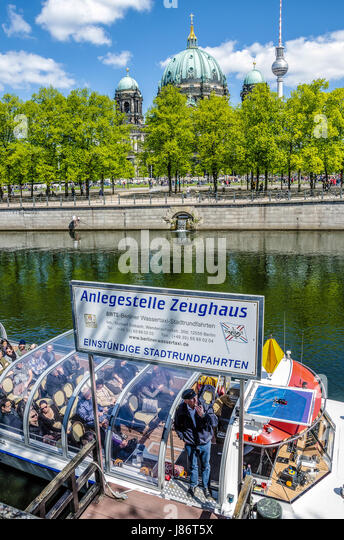 Berlin, Germany's capital, can only fully be appreciated if one goes on a boat trip, as almost one third of - Stock Image