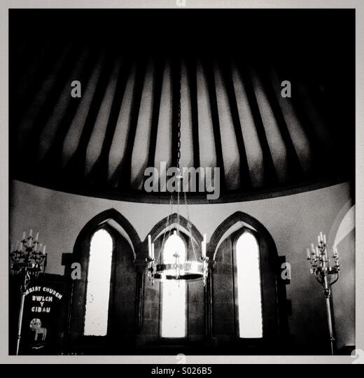 Old chapel (black & white) - Stock Image