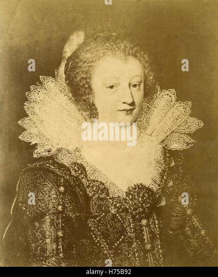 Portrait of Countess Catharina Belgica of Nassau, painting by Jan Anthonisz van Ravesteyn - Stock Image