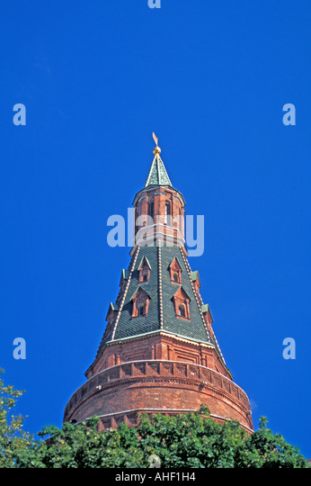 Moscow Russia Kremlin tower - Stock Image