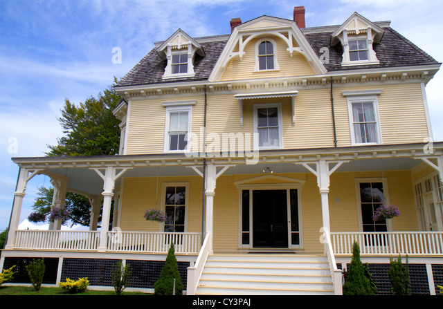 Rhode Island Newport Fort Ft. Adams State Park Eisenhower House Summer White House - Stock Image