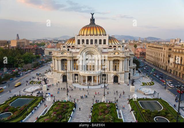 Palacio del Belles Artes Mexico City Mexico - Stock Image