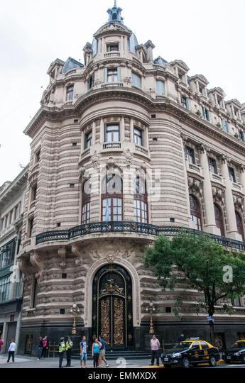 19th-century public buildings in Calle Florida, Buenos Aires, Argentina - Stock Image