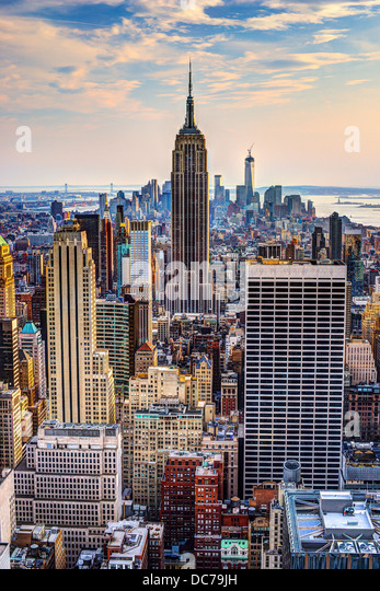 New York City, USA midtown skyline at dusk. - Stock Image