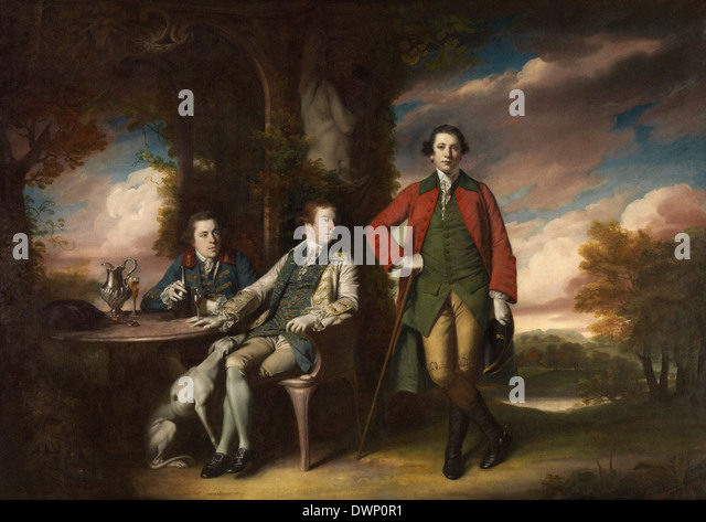 Joshua Reynolds - The Honourable Henry Fane with Inigo Jones and Charles Blair - Stock Image