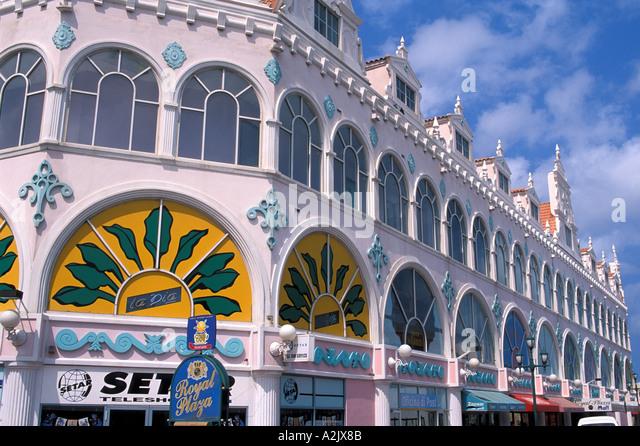 Aruba Oranjestad Shopping Mall - Stock Image