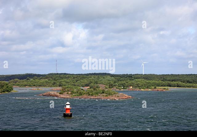 Baltic sea archipelago landscape in Sweden, Europe. - Stock Image