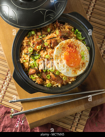 Bokkeumbap. Korean fried rice. Korea Food - Stock Image