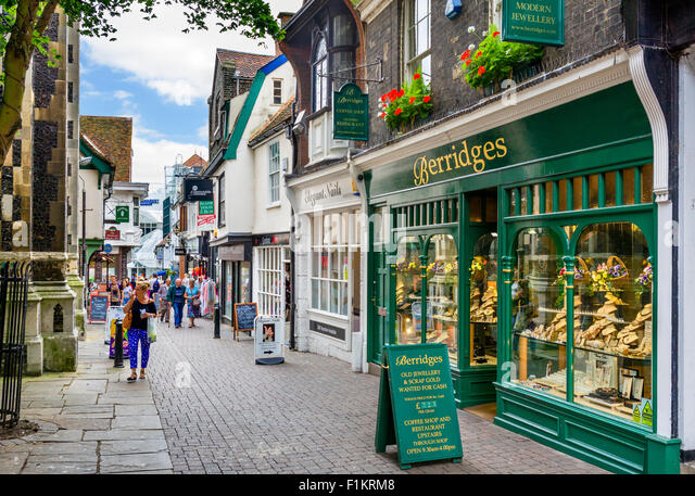 Shops on Dial Lane in the town centre, Ipswich, Suffolk, England, UK - Stock Image