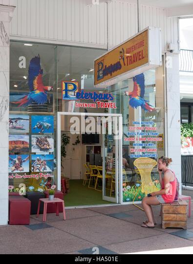 Peterpans Adventure Travel Agent, Orchid Avenue, Surfers Paradise, City of Gold Coast, Queensland, Australia - Stock-Bilder