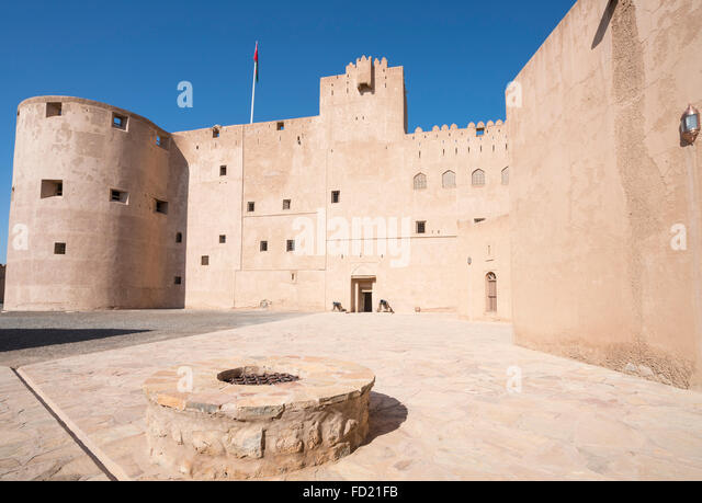 Exterior view of historic  Jabrin Fort in Oman - Stock Image