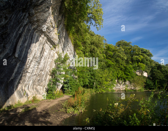 Water-Cum-Jolly, Cressbrook, near Bakewell, Derbyshire, Peak District, England, - Stock Image