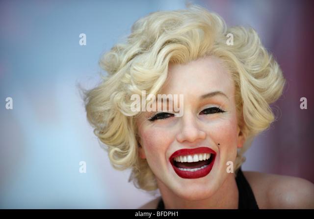 Marilyn Monroe Wax Model Hollywood California USA - Stock Image