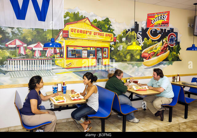 Indiana Chesterton Original George's Gyros Spot restaurant food family business ethnic wall mural sandwich shop - Stock Image