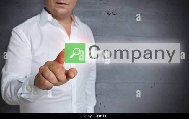 company browser is served by man concept. - Stock Image