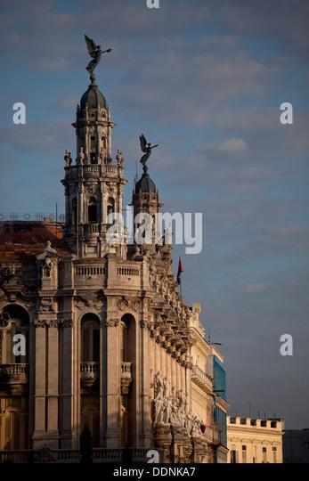 Theater Gran Teatro de La Habana in Havanna, Kuba, Karibik | the theatre Gran Teatro de La Habana in Havana, Cuba, - Stock Image