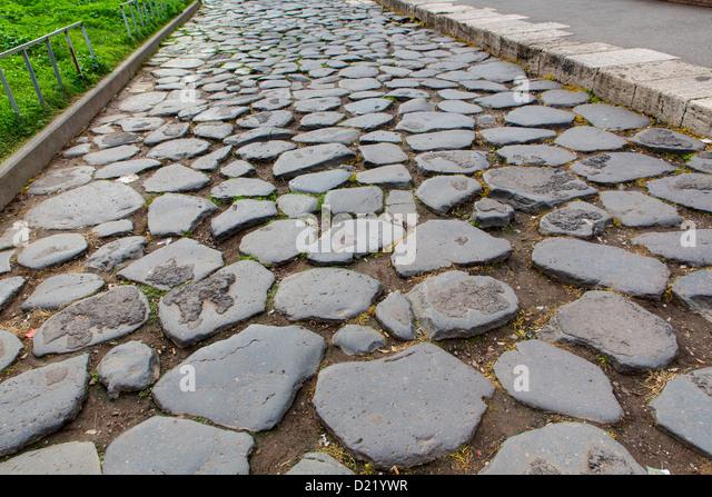 Ancient roman road Via sacra - Stock Image