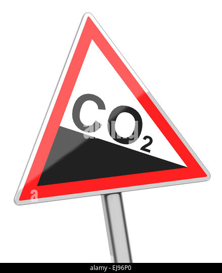carbon dioxide sign - Stock Image