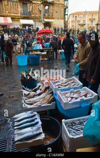Catania market stock photos catania market stock images for Central fish market